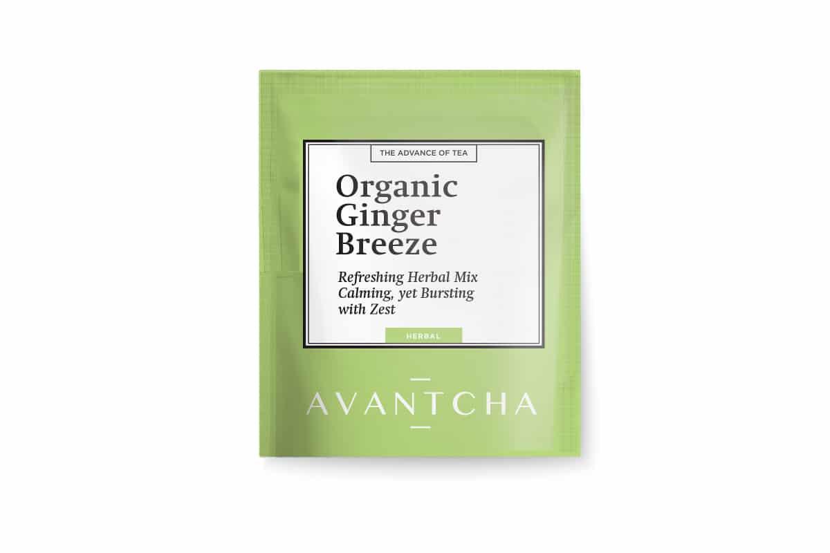 AVANTCHA   Organic Ginger Breeze Silk Teabag