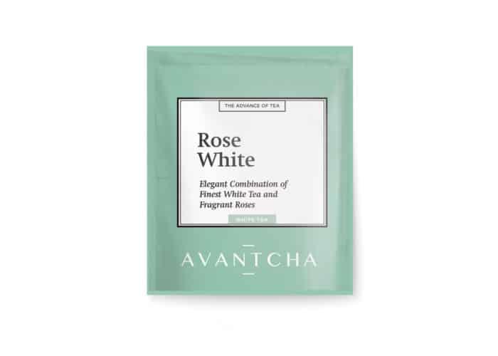 rose white tea bag